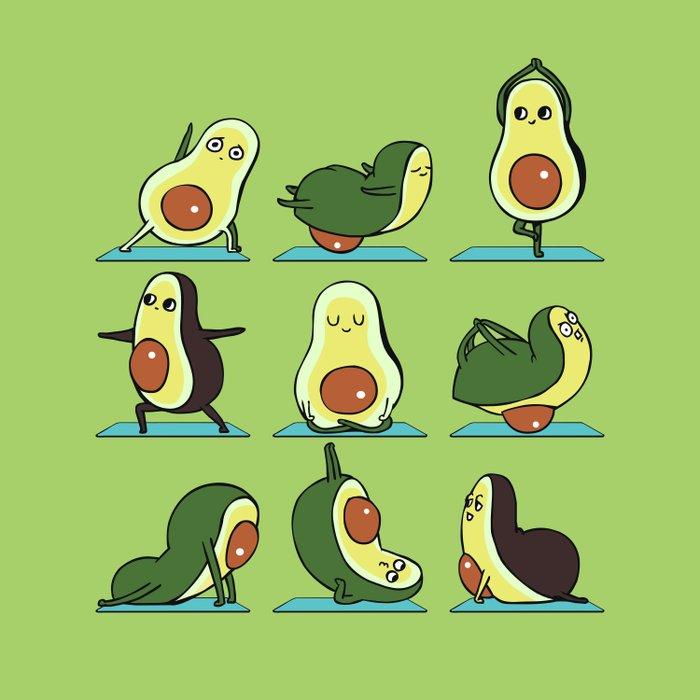 Avocado Yoga Duvet Cover
