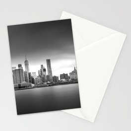 Monochrome panorama of Manhattan Stationery Cards