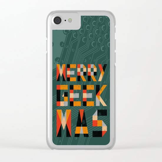 Merry Geekmas Clear iPhone Case