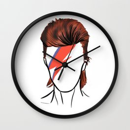 Bowie Rock Icon Silhouette Wall Clock