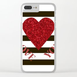 Love you Valentines day Clear iPhone Case