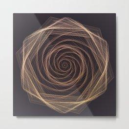 Geometric Rose Metal Print