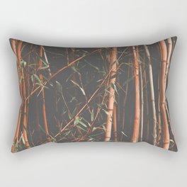 bamboo orange Rectangular Pillow