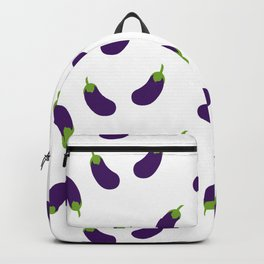 EGGPLANT AUBERGINE VEGGIE FOOD PATTERN Backpack