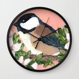 Chickadee No. 1 Wall Clock