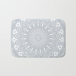 Cool Gray Mandala Simplistic Bold Minimal Minimalistic Bath Mat