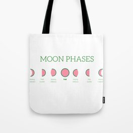 Watermelon Moon Phases Tote Bag