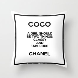coco quote no. 4 Throw Pillow