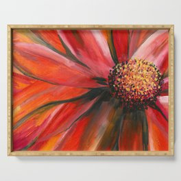 Pink Cone Flower Serving Tray