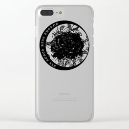 All Roses Have Thorns - illustration by Maxime Potvin Clear iPhone Case