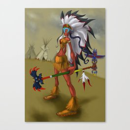 Indian Sorceress Canvas Print