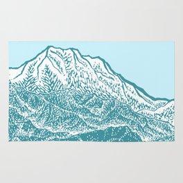 Distant Snow- 遠雪 : linocut Rug