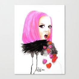 Shirley Manson-Magnetized Canvas Print