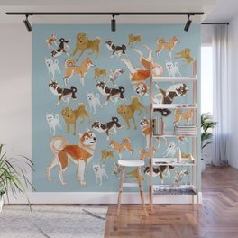 Japanese Dog Breeds Wall Mural