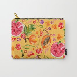 Tropical Fruit Festival in Yellow | Frutas Tropicales en Amarillo Carry-All Pouch
