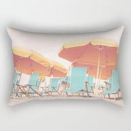 Beach Chairs and Umbrellas Rectangular Pillow