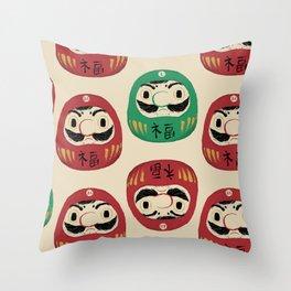 super daruma bros Throw Pillow