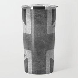 Union Jack Vintage retro style B&W 3:5 Travel Mug