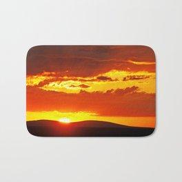 Sunset at Etosha NP, Namibia Bath Mat