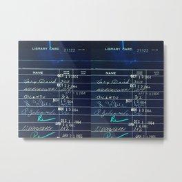 Library Card 23322 Negative Metal Print