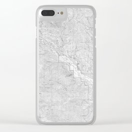 Methow Valley Topography - SeriousFunStudio Clear iPhone Case