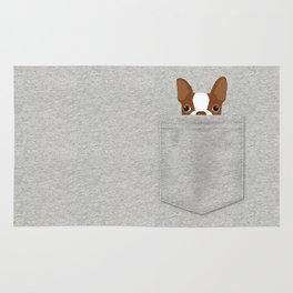 Pocket Boston Terrier - Red Rug