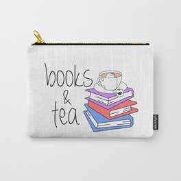 Books and Tea Bookworm Carry-All Pouch