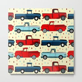 Winter Vintage Trucks Metal Print
