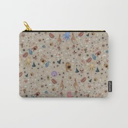 Dreams & Nightmares (on Khaki Beige Background)  Carry-All Pouch