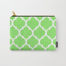 MOROCCAN LIME GREEN AND WHITE PATTERN Carry-All Pouch