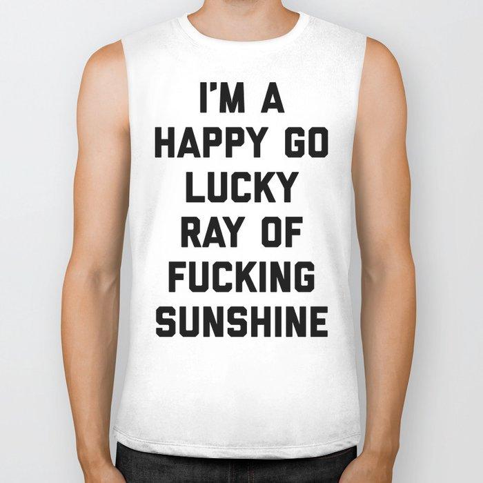 Ray Of Fucking Sunshine Funny Quote Biker Tank