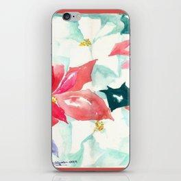Poinsettia Cheer iPhone Skin