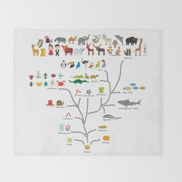 Evolution scale from unicellular organism to mammals. Evolution in biology, scheme evolution Throw Blanket