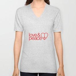 Love & peace Unisex V-Neck