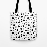 arya stark Tote Bags featuring Stark Stars by TeeVision
