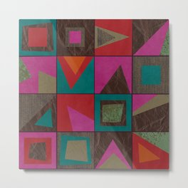 squares of colors and shreds Metal Print