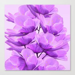Violet Anemones Spring Atmosphere #decor #society6 #buyart Canvas Print