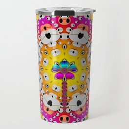 Fantasy flower in tones Travel Mug