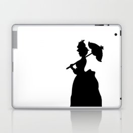 Victorian Woman - black & white - Woman in a Dressing Gown Laptop & iPad Skin