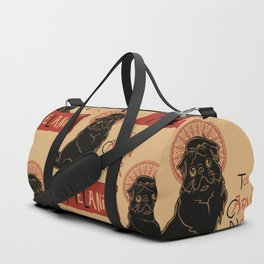 Le Carlin Noir (The Black Pug) Duffle Bag