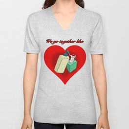 Hand Lotion and Tissues Unisex V-Neck