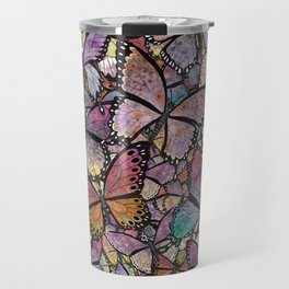 butterflies aflutter rosy pastels version Travel Mug