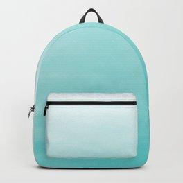 Modern teal watercolor gradient ombre brushstrokes pattern Backpack