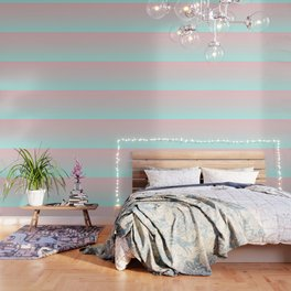 Pastel Ombre Millennial Pink Mint Gradient Wallpaper