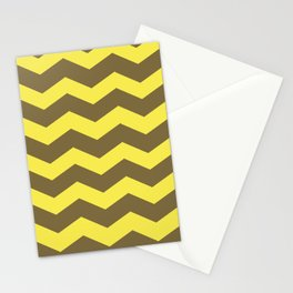Chevron (yellow & brown) Stationery Cards