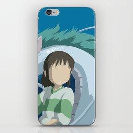 Minimalistic Spirited Away Chihiro and Haku iPhone Skin