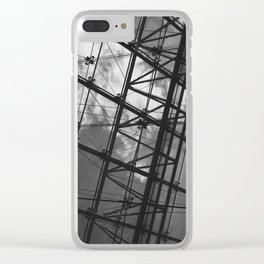 Glass Ceiling IV (Landscape) - Black and White Architectural Photography Clear iPhone Case