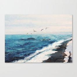 Watercolor Coast Canvas Print