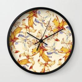 Irisses & Coriander Wall Clock