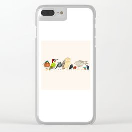 Woodland Bird Collection Clear iPhone Case